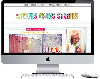 Stripes Cross Stripes - Pre-Made Blogger Template