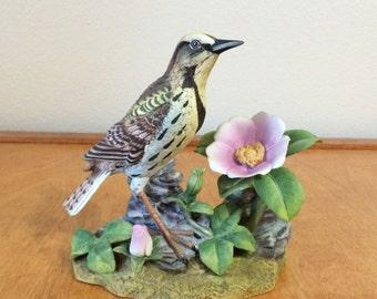 Andrea Bird Figurine - Meadow Lark from Sadek Japan
