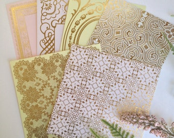 Anna Griffin Foil Stamped Card Layers Set 6