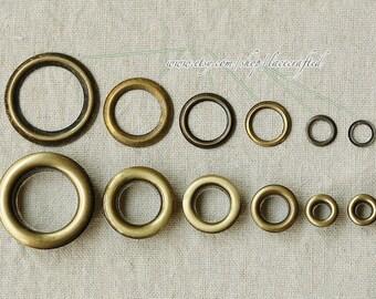 100pcs 4.5-mm Bronze Brushed Brass Grommet Eyelet For Bag purse tote Making