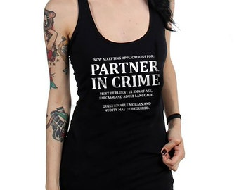 Partner in Crime Women's Racerback Tank Top