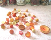 Vintage Button Collection, Boho Tangerine, Pink, Sunflower