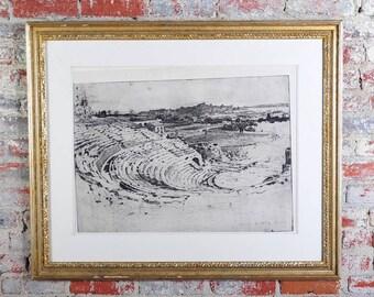 Roman Greek Amphitheater -18th century Piranesi Print