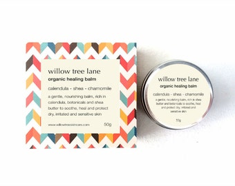 Organic Healing Balm Infused with Calendula, Arnica and Tea Tree, Healing Salve for Lips and Body
