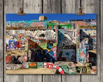 Graffiti Park - City Wall Art - Austin, TX - Fine Art Photography Print
