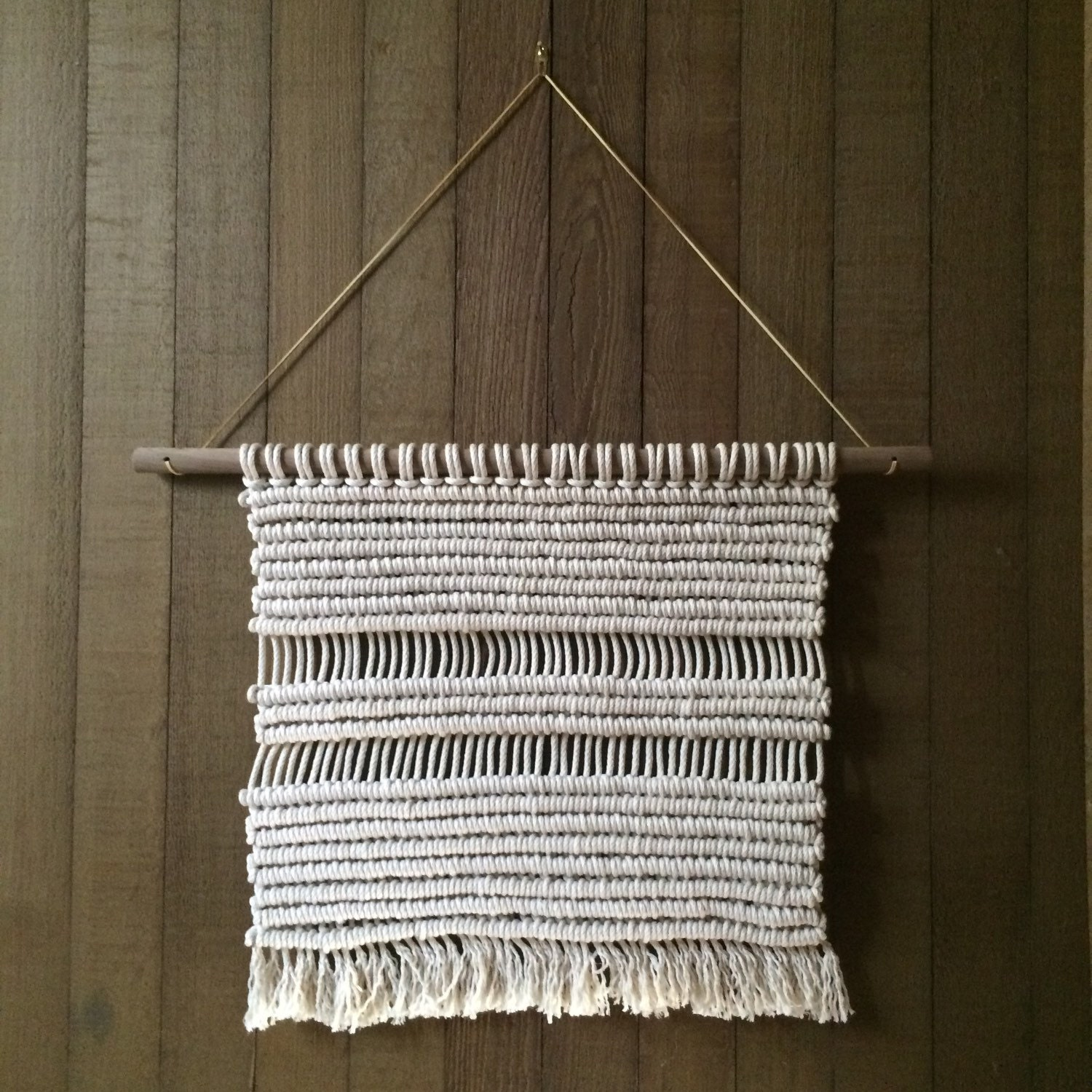 best rope for macrame wall hanging modern macrame wall hanging cotton rope walnut by 8570