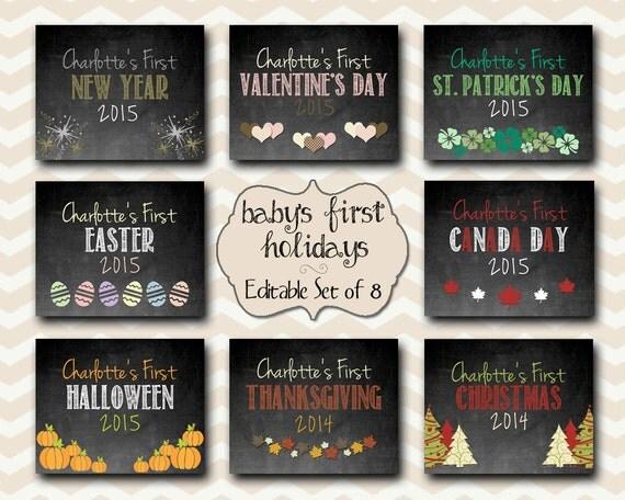 Chalkboard Calendar Canada : Baby s first year holidays canadian edition