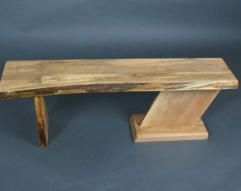 Maple bench etsy spalted maple bench sciox Image collections