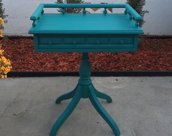 SOLD**Teal accent table
