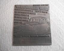 Hillman Minx Magnificent-Original Printing Press Plate For Advertisement-1949