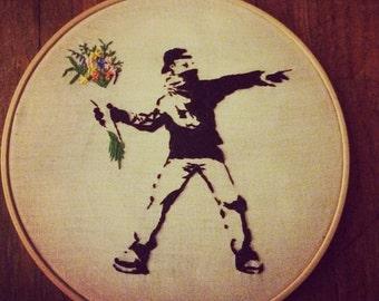 Banksy, Flowerthrower.
