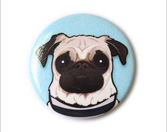 Doug the Pug pin badge