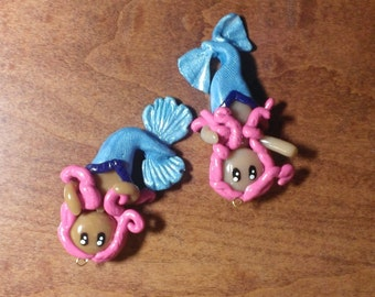 Chibi Mermaid Pendants