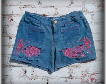 Teen shorts, altered shorts, blue shorts, altered short,  # 72
