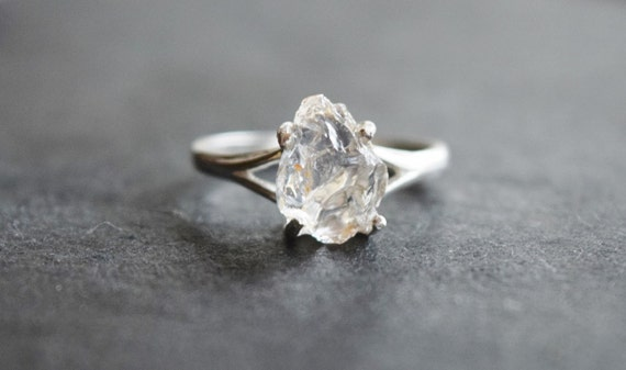 Handmade Unique Engagement Ring Raw Diamond Ring Rough By