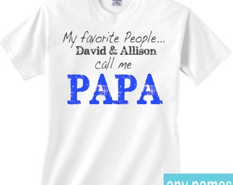 Papa shirt with grandkids' names