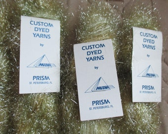 Custom Dyed Yarns by Prism 4 Skeins Super Dazzle Brass Color