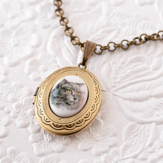Cat Cameo Locket Cat Necklace Gray Cat Locket Persian Cat. 22k Gold Engagement Rings. Layered Engagement Rings. Bead Bangles. Pretty Rings. Hand Wound Watches. Thick Diamond Band. Baby Diamond. Tri Color Bands