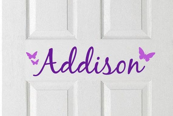 Bedroom door decal personalized kids door kids room decor for Personalized kids room decor