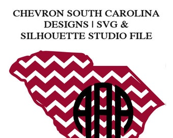 South Carolina Designs for Cutting Machines | SVG and Silhouette Studio (DXF)