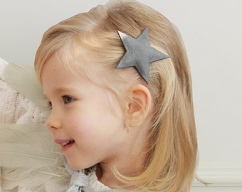 Leather-like Star Hair Pin STAR HAIR CLIP
