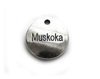 6 Silver Muskoka Charms - Canadian Charm