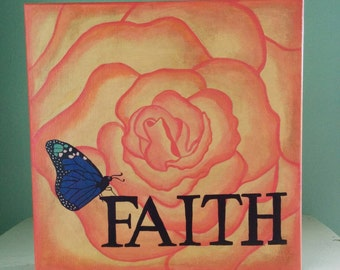 Rose of Faith Original Painting Susiespaintbox