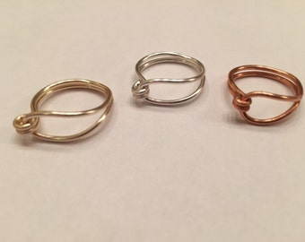 Wire Wrapped Ring, Dainty Ring, Gold Ring, Silver Ring, Copper Ring