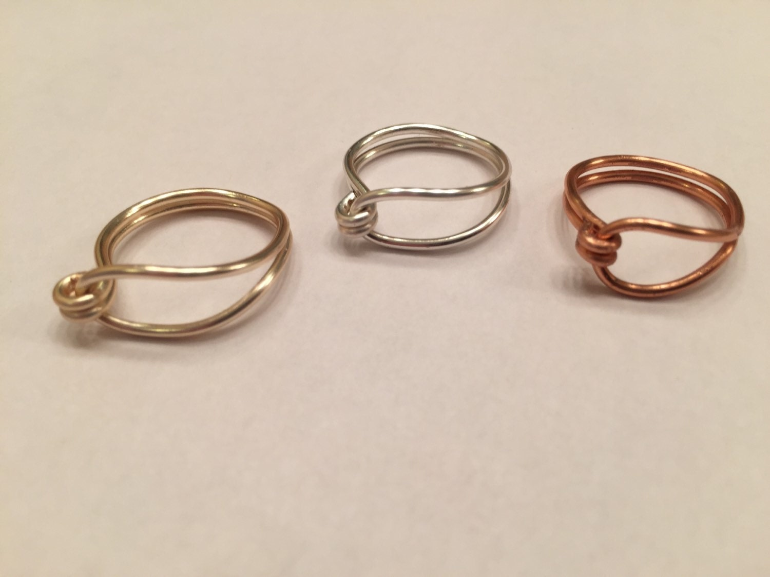 wire wrapped ring dainty ring gold ring silver ring copper