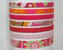 Skinny Headband Pink Hairband Fitness Headband 1/2 inch Hairband Adjustable Headband Preppy Headband for Women and Girls Best Selling Items