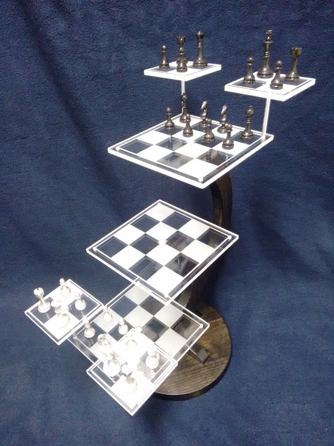 Reserved order for private buyer tri dimensional chess set - Tri dimensional chess board ...