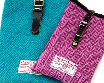 Harris Tweed iPad cover - herringbone, iPad carrier, tablet cover, mini iPad cover