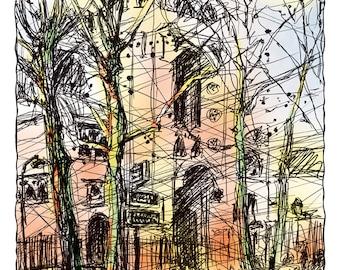 Montmartre, place des Abbesses (Saint-Jean chirch)