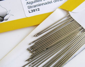 John James Blunt End Harness Needles, the best for leather, 25 needles per package