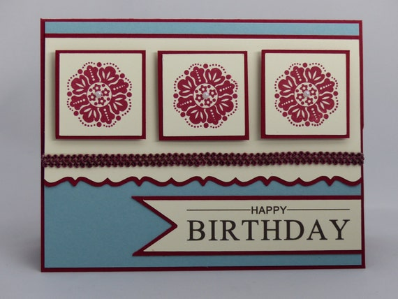 Stampin Up Handmade Greeting Card Happy Birthday Card – Father Daughter Birthday Cards