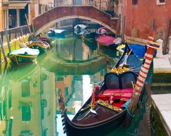 Venice, Italy Photograph - Valentine's, Canal, Travel Photography, Romantic Wall Art