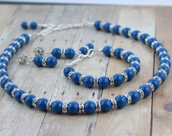 Pearl Bridal Jewelry - Bridesmaid Jewelry - Bridal Necklace - Wedding Jewelry - Wedding Necklace and Earring Set - Vintage Style