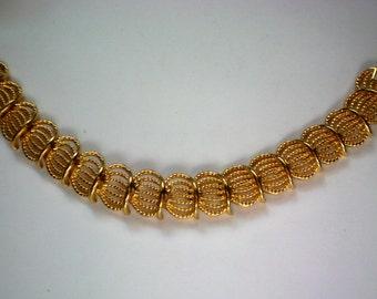 Signed Napier Gold tone Link Bracelet - 3935