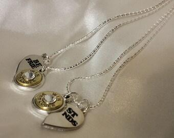 Best friend bullet necklace