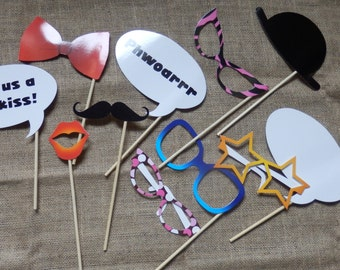 Photo booth props. Wedding photo booth props