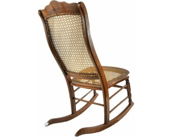 Genial Antique Rocking Chair With Cane