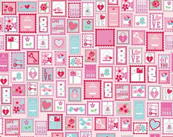 Lovey Dovey - Stamps Fabric