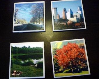 Minnesota Tile Coasters - Set of Four