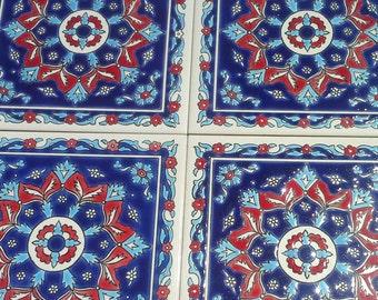 Ceramic Wall Decal Tiles, Bohemian Ceramic Tiles, Mediterranean Tiles, Ceramic Wall Art,  Ceramic Wall Tapestry, Ceramic Wall Tile,