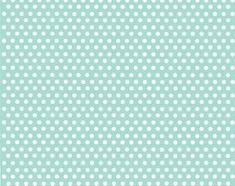 Mint green with white mini polka dots craft  vinyl sheet - HTV or Adhesive Vinyl -  polka dot pattern HTV2310