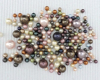SWAROVSKI® Crystal Pearl Assortment, Article #5810 in Assorted Colors and Sizes, 80 grams, approximately 200 pcs. ABOUT 8 cents per pearl