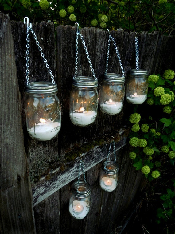 Bulk discount mason jar decor hanging outdoor lantern for Outdoor hanging ornaments