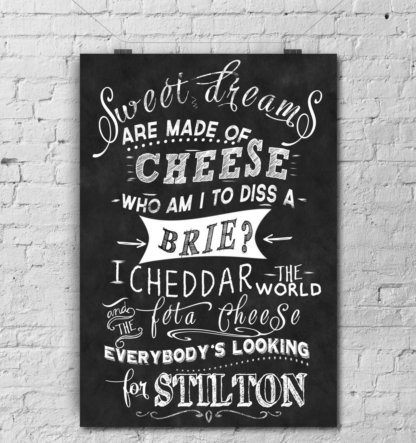 Chalkboard Art-Kitchen Art Greatest Cheese By