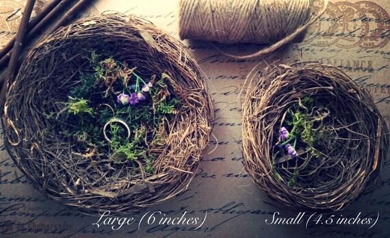 bird nest wedding ring holder bearer will you marry me