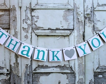 THANK YOU Wedding  Banners-Thank you signs Photo prop-custom colors-rustic wedding sign